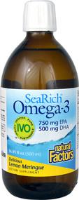 Natural Factors SeaRich Omega-3 750 mg EPA 500 mg DHA Lemon Meringue - 16.91 fl oz