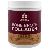 Dr. Axe / Ancient Nutrition, Bone Broth Collagen, Chocolate , 18.6 oz (528 g)