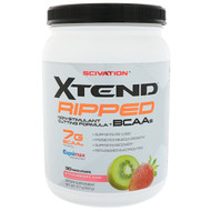 Scivation, Xtend Ripped BCAAs, Strawberry Kiwi Splash, 1.09 lbs (495 g)