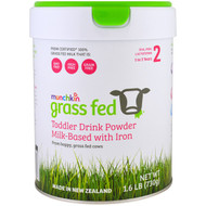 Munchkin, Grass Fed, Toddler Drink Powder, Milk-Based with Iron, 1 to 3 Years, 1.6 lb (730 g)