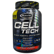 Muscletech, Cell Tech, The Most Powerful Creatine Formula, Fruit Punch, 3.09 lbs (1.40