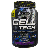 Muscletech, Cell Tech, The Most Powerful Creatine Formula,Grape, 3.09 lbs (1.40