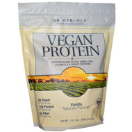 Dr. Mercola Vegan Protein Vanilla - 1 lb 5 oz
