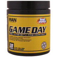 MAN Sports, Game Day, High Intensity Pre-Workout, Fruit Punch, 8.99 oz (255 g)