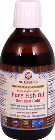 NutriGold Pure Fish Oil Omega-3 Gold Fresh Lemon - 8.45 fl oz