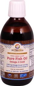 NutriGold Pure Fish Oil Omega-3 Gold Fresh Lemon - 8.45 fl oz