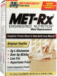 MET-Rx Engineered Nutrition Meal Replacement Original Vanilla - 18 Packets