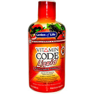 Garden of Life, Vitamin Code Liquid, Multivitamin Formula, Fruit Punch Flavor, 30 fl oz (900 ml)