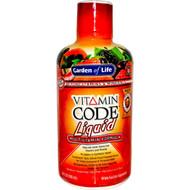 Garden of Life, Vitamin Code Liquid, Multivitamin Formula, Fruit Punch Flavor, 30 fl oz (900 ml)