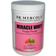 Dr. Mercola, Miracle Whey, Protein Powder, Strawberry, 1 lb (454g)