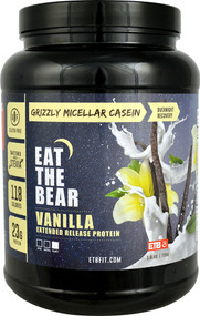 Eat The Bear Grizzly Micellar Casein Vanilla - 1.6 lbs