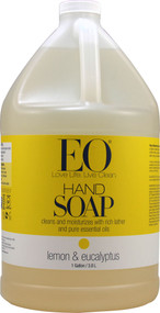 EO Essential Oil Products Liquid Hand Soap Lemon and Eucalyptus -- 1 Gallon