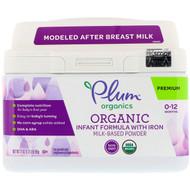 Plum Organics, Organic Infant Formula With Iron Milk-Based Powder, 21 oz (595 g)