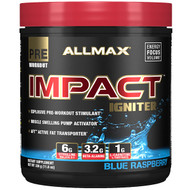 ALLMAX Nutrition, IMPACT Igniter, Pre-Workout, Citrulline Malate + Beta-Alanine + NAC, Blue Raspberry, 11.6 oz (328 g)