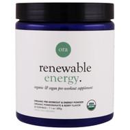 Ora Renewable Energy Pre-Workout Organic Pomegranate & Berry -- 7.1 oz