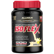ALLMAX Nutrition, Isoflex, 100% Ultra-Pure Whey Protein Isolate (WPI Ion-Charged Particle Filtration), Vanilla, 2 lbs (907 g)