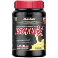 ALLMAX Nutrition, Isoflex, 100% Ultra-Pure Whey Protein Isolate (WPI Ion-Charged Particle Filtration), Banana, 2 lbs (907 g)