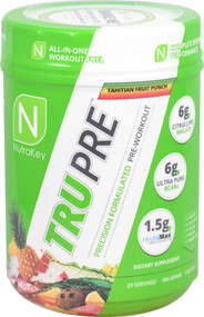 NutraKey TRU Pre Precision Formulated Pre-Workout Tahitian Fruit Punch - 20 Servings