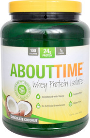 About Time Whey Protein Isolate Chocolate Coconut - 2 lbs