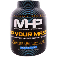 Maximum Human Performance, Up Your Mass, High Protein Weight Gainer, Vanilla, 4.66 lbs (2,112 g)