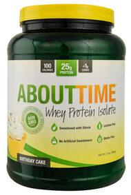 About Time, Whey Protein Isolate,  Birthday Cake - 2 lbs