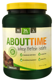 About Time, Whey Protein Isolate,  Chocolate - 2 lbs