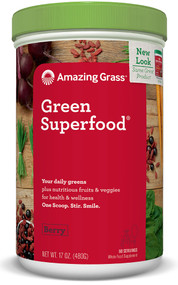 Amazing Grass Green SuperFood Drink Powder Berry -- 60 Servings