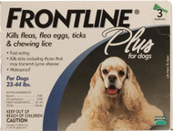 Frontline Plus, for Dogs 23-44 lbs - 3 Tubes