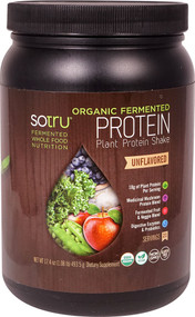 SoTru Organic Fermented Plant Protein Shake Unflavored - 21 Servings