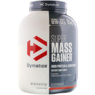 Dymatize Nutrition, Super Mass Gainer, Strawberry, 6 lbs (2.7