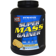 Dymatize Nutrition, Super Mass Gainer, Sugar Cookie, 6 lbs (2.7
