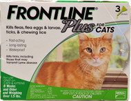 Frontline Plus for Cats -- 3 Tubes