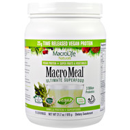 Macrolife Naturals, MacroMeal Ultimate Superfood, Vanilla + Superfoods, 21.7 oz (615 g)