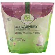 GrabGreen, 3-in-1 Laundry Detergent Pods, Lavender,132 Loads, 5lbs, 4oz (2,376 g)