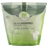 GrabGreen, 3 in 1 Laundry Detergent Pods, Vetiver,132 Loads, 5lbs, 4oz (2,376 g)