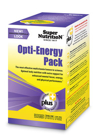 Super Nutrition Opti-Energy Pack Anti-Aging Potency Multi-Vitamin Gluten Free - 30 Packets