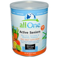 All One Nutritech Active Seniors Multiple Vitamin and Mineral Powder - 15.9 oz