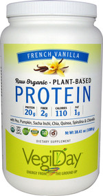 Natural Factors Raw Organic Plant-Based Protein Creamy Vanilla - 38.41 oz