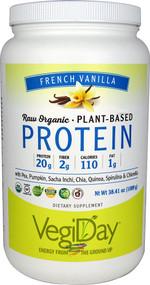 Natural Factors Raw Organic Plant-Based Protein Creamy Vanilla -- 38.41 oz