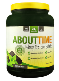 About Time Whey Protein Isolate Mocha Mint - 2 lbs
