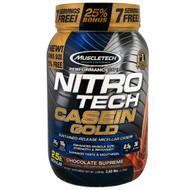 Muscletech, Nitro Tech Casein Gold, Chocolate Supreme, 2.53 lbs (1.15 kg)