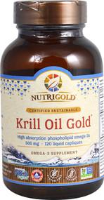 NutriGold Krill Oil Gold - 500 mg - 120 Liquid Capliques