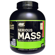 Optimum Nutrition, Serious Mass, Strawberry, 6 lbs (2.72