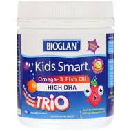 Bioglan, Kids Smart, Omega-3 Fish Oil, Trio Flavor, 180 Chewable Burstlets