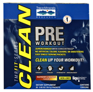 Trace Minerals Research FIT Series CLEAN PRE Workout Raspberry Lemonade - 20 Packets