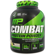 MusclePharm, Combat Protein Powder, Vanilla, 4 lbs (1814 g)