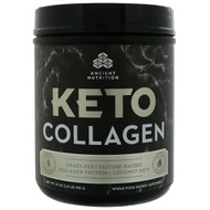 Dr. Axe / Ancient Nutrition, Keto Collagen, Grass-Fed, Pasture-Raised, Collagen Protein + Coconut MCTs, 19 oz (540 g)
