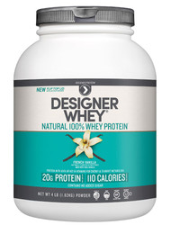 Designer Protein Natural 100% Whey Protein Powder French Vanilla - 4 lbs