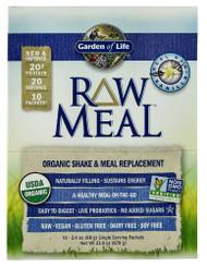 Garden of Life, Organic RAW Meal, Vanilla - 10 Packets