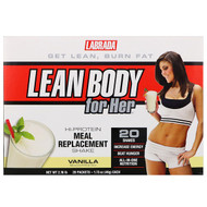 Labrada Nutrition, Lean Body for Her, Hi-Protein Meal Replacement Shake, Vanilla, 20 Packets, 1.73 oz (49 g) Each